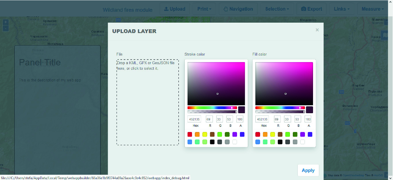 Desktop Application Developed by Open Source Tools for Optimizations
