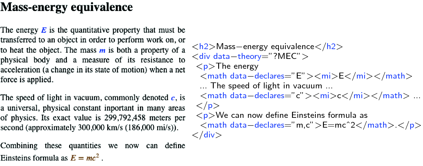 Integrating Semantic Mathematical Documents and Dynamic