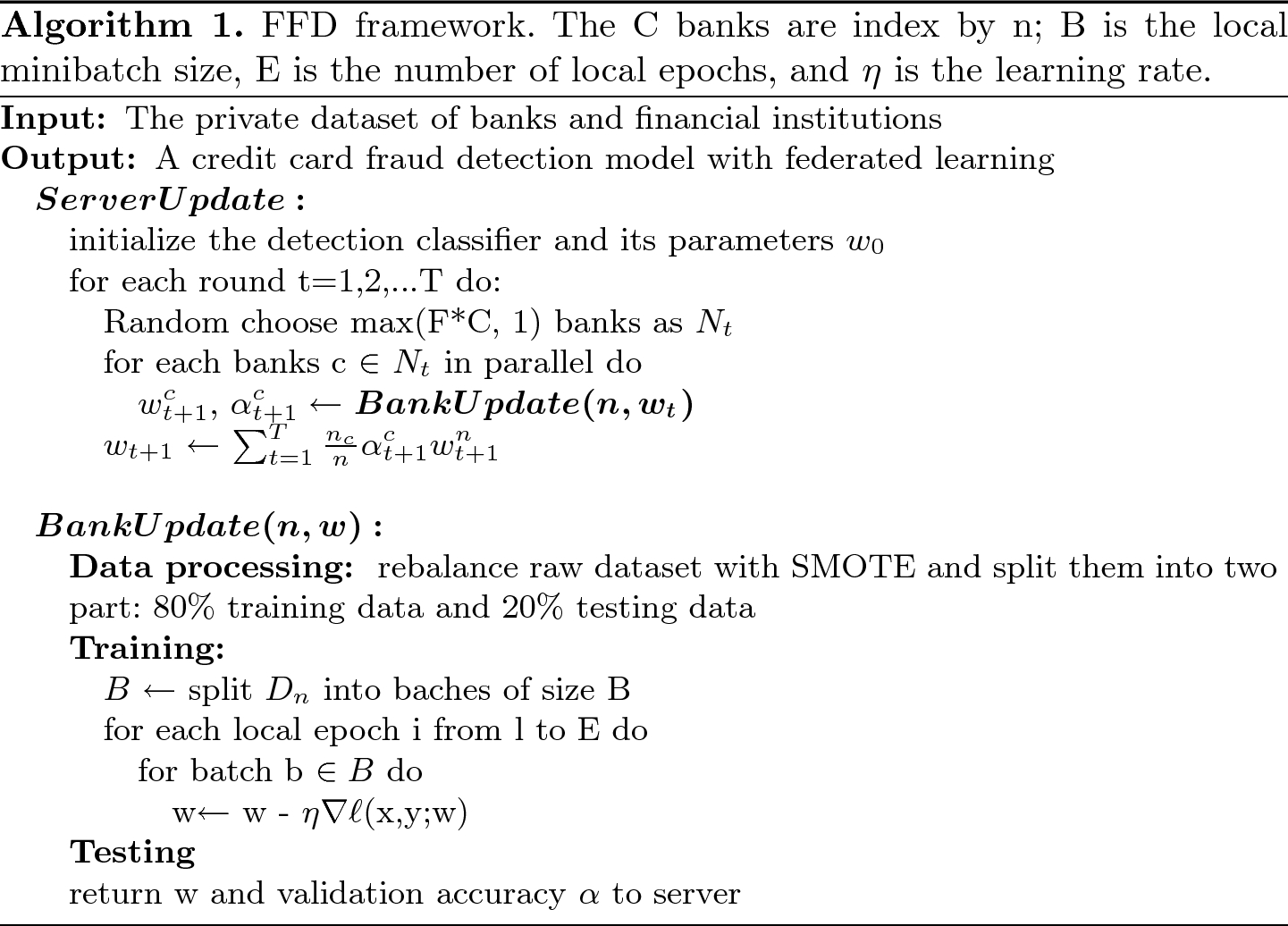 FFD: A Federated Learning Based Method for Credit Card Fraud