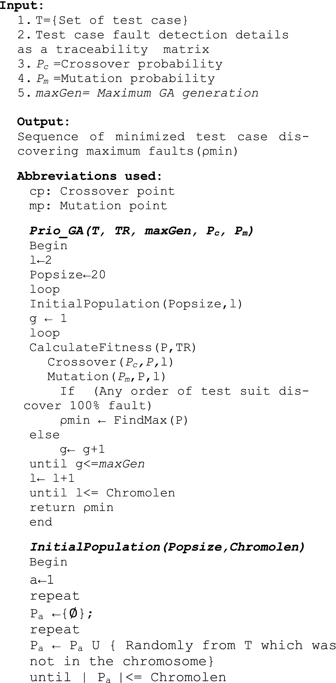 A Genetic Algorithm-Based Approach for Test Case