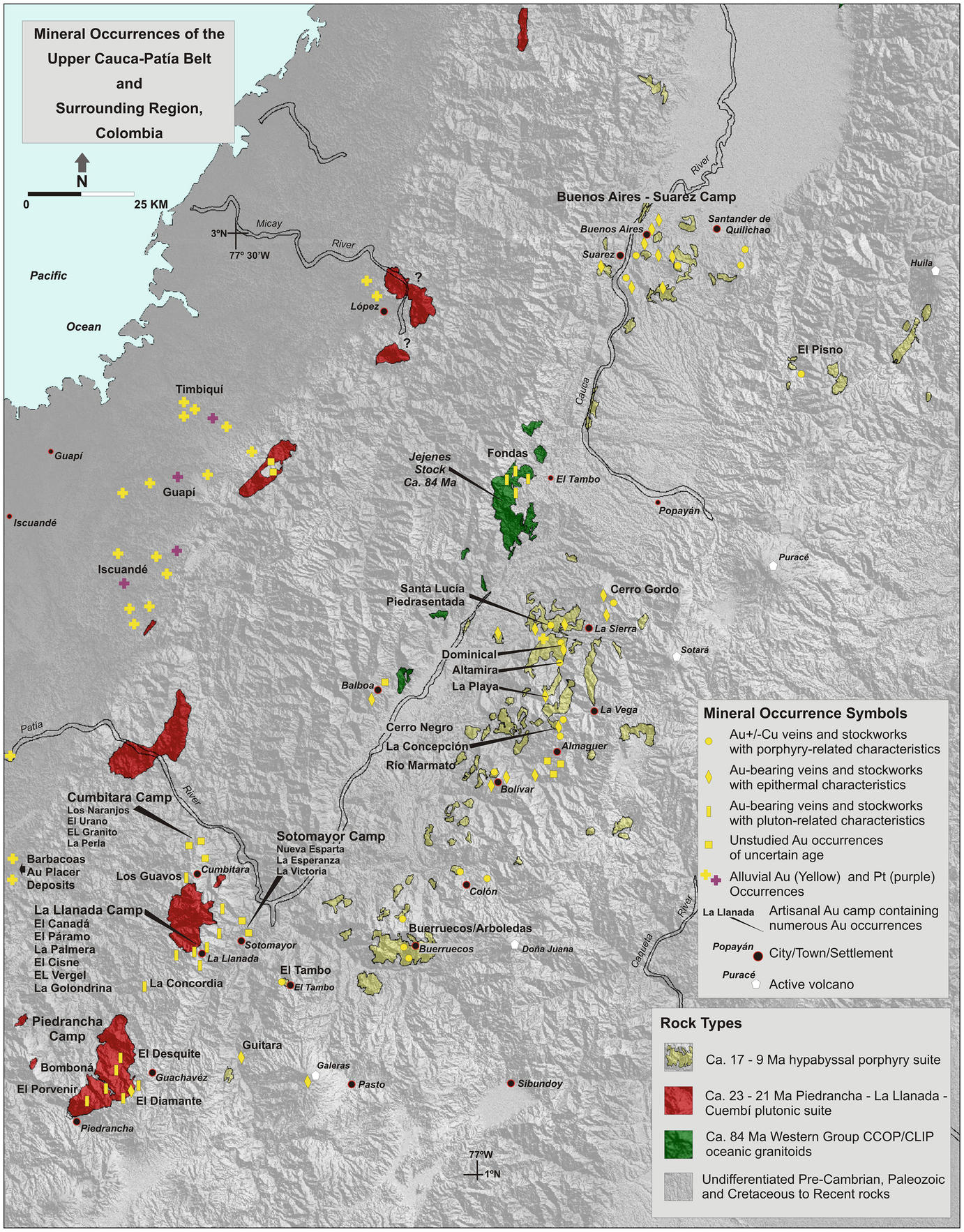 Phanerozoic Metallogeny in the Colombian Andes: A Tectono-magmatic ...
