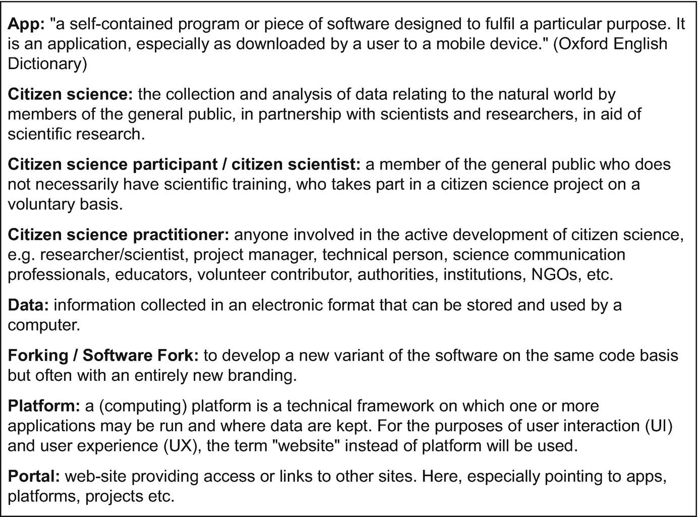Developing Mobile Applications for Environmental and Biodiversity