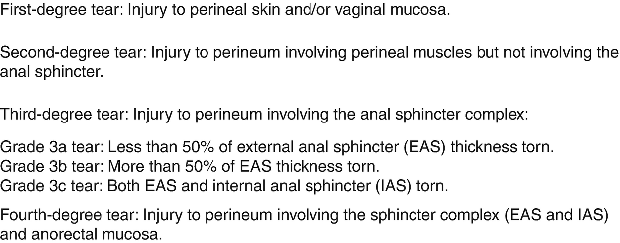 Perineal Trauma and Episiotomy | SpringerLink