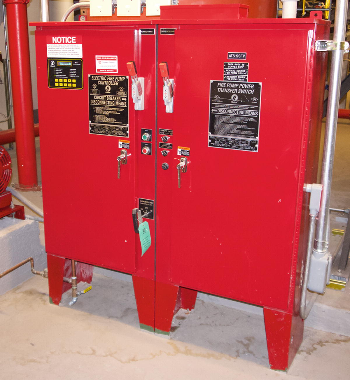 Fire Pumps And Water Supplies Springerlink Pump Transfer Switch Wiring Diagram Fig 53 Controller Power