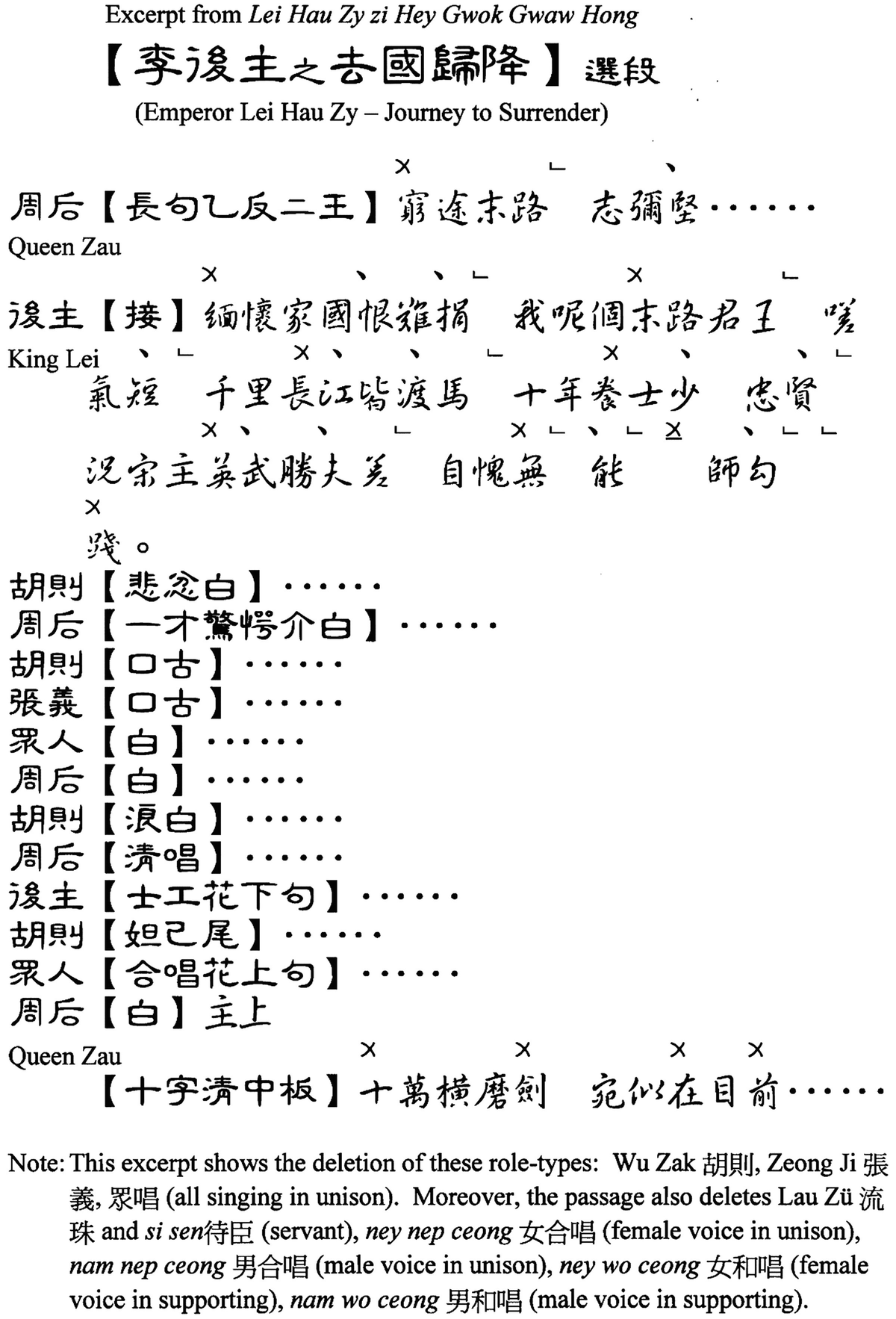 Customization of Performance: Cantonese Operatic Song Groups at