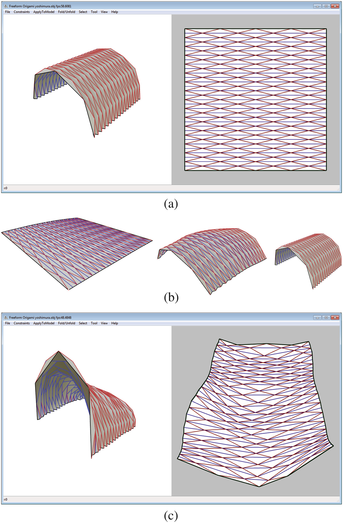 PDF) Rigid foldable Origami structures: parametric modelling with ... | 1829x1200