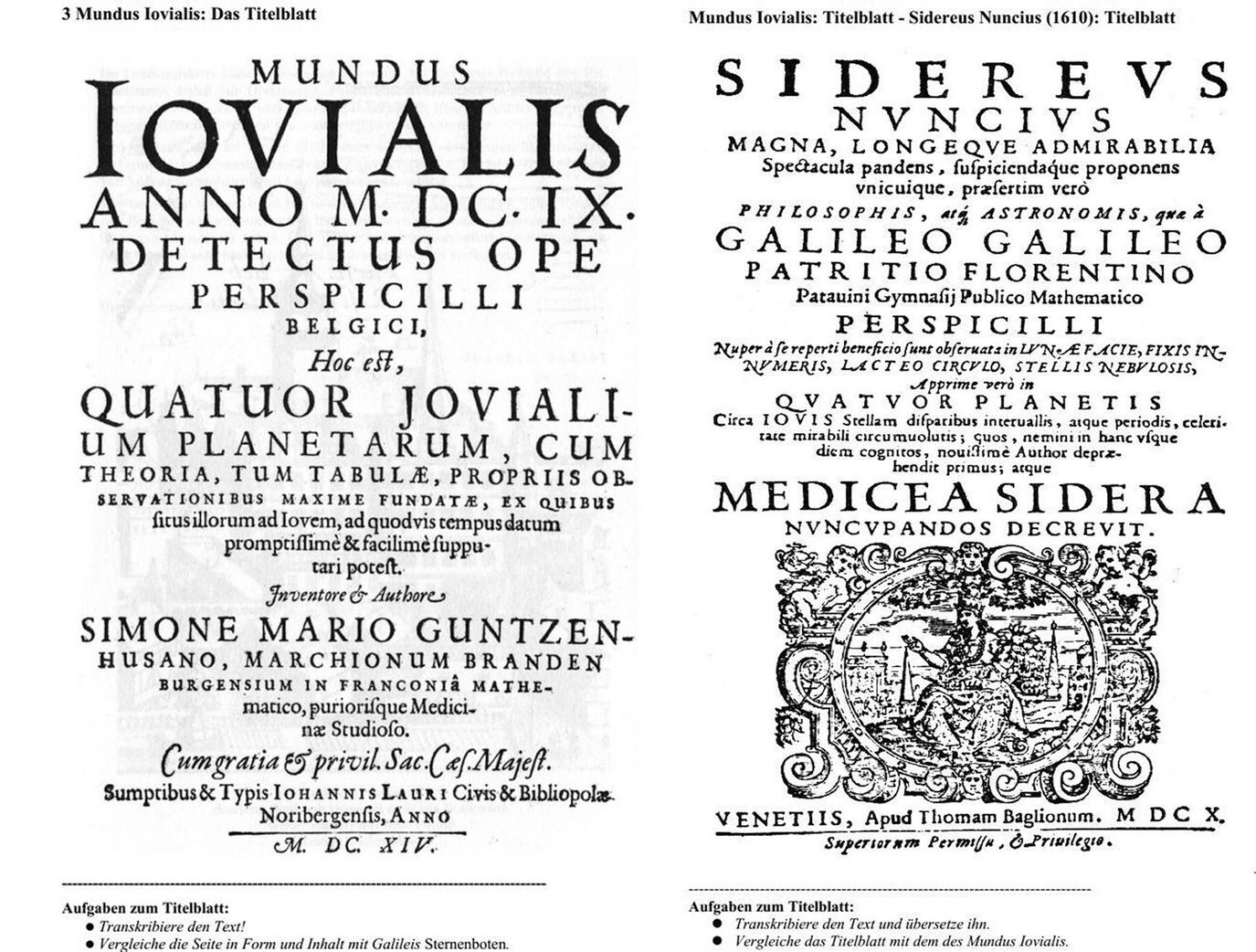 Translating the Mundus Iovialis into German | SpringerLink