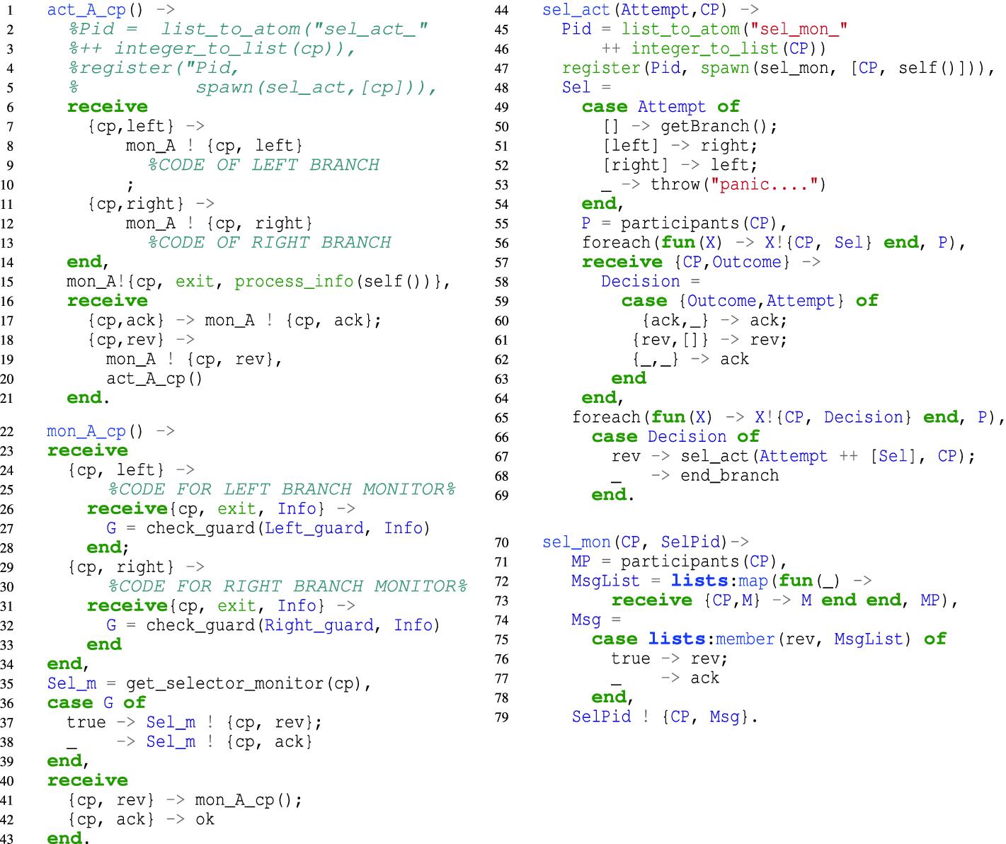 Reversible Choreographies via Monitoring in Erlang