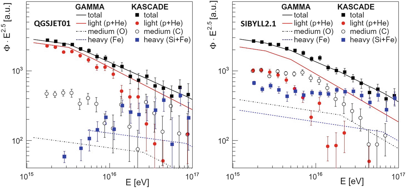 Indirect Cosmic Ray Detection: Particle Showers in the