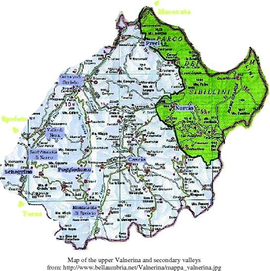 Cartina Italia Javascript.Valnerina The High Valley Of Hermits Friars And Saints Springerlink