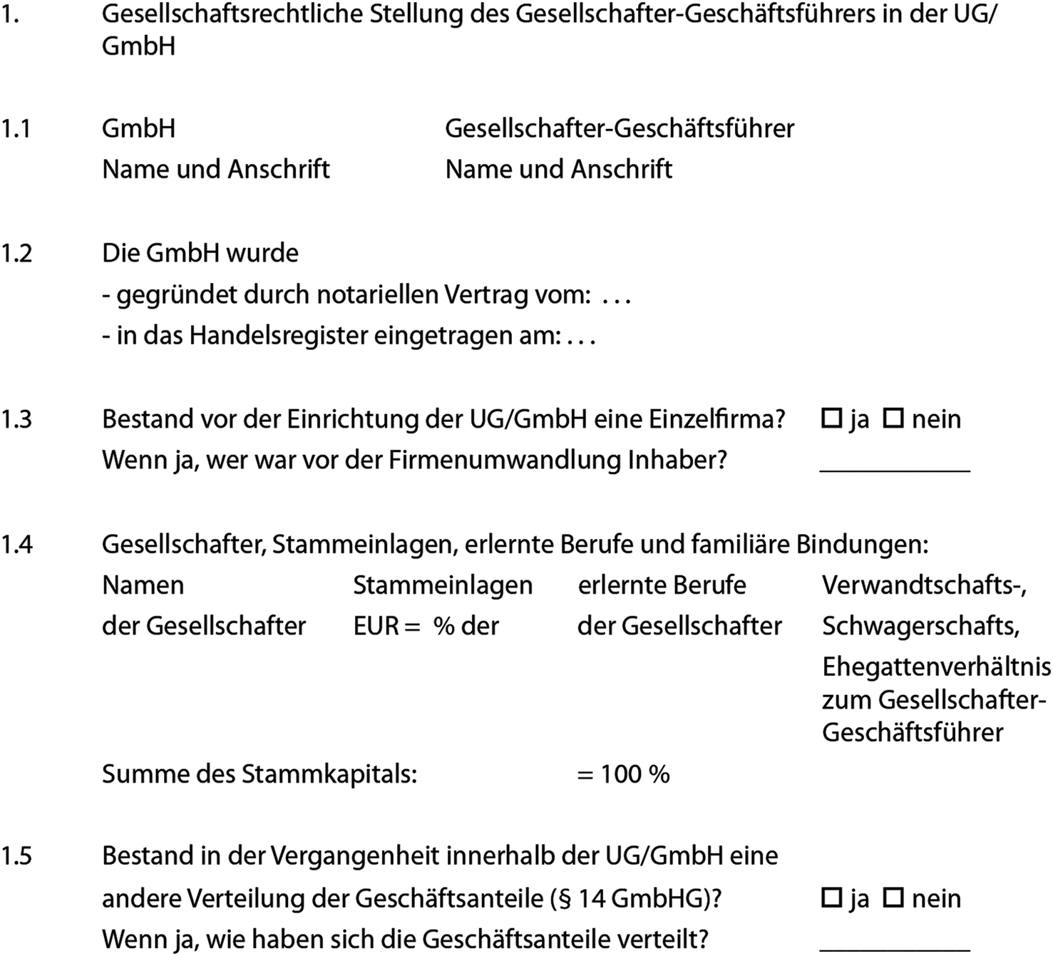 Handelsregisteranmeldung Gmbh Ug Muster Word Pdf 14