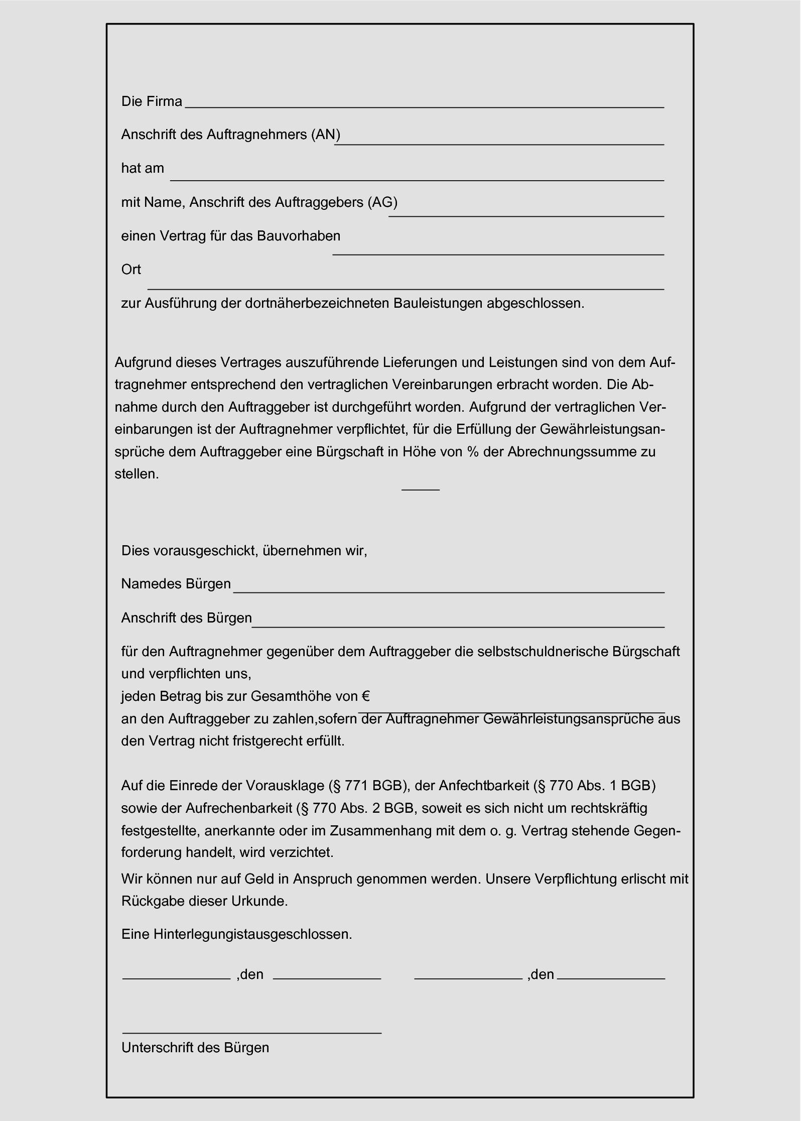 Vob Musterbriefe Fur Auftraggeber Pdf Kostenfreier Download 0