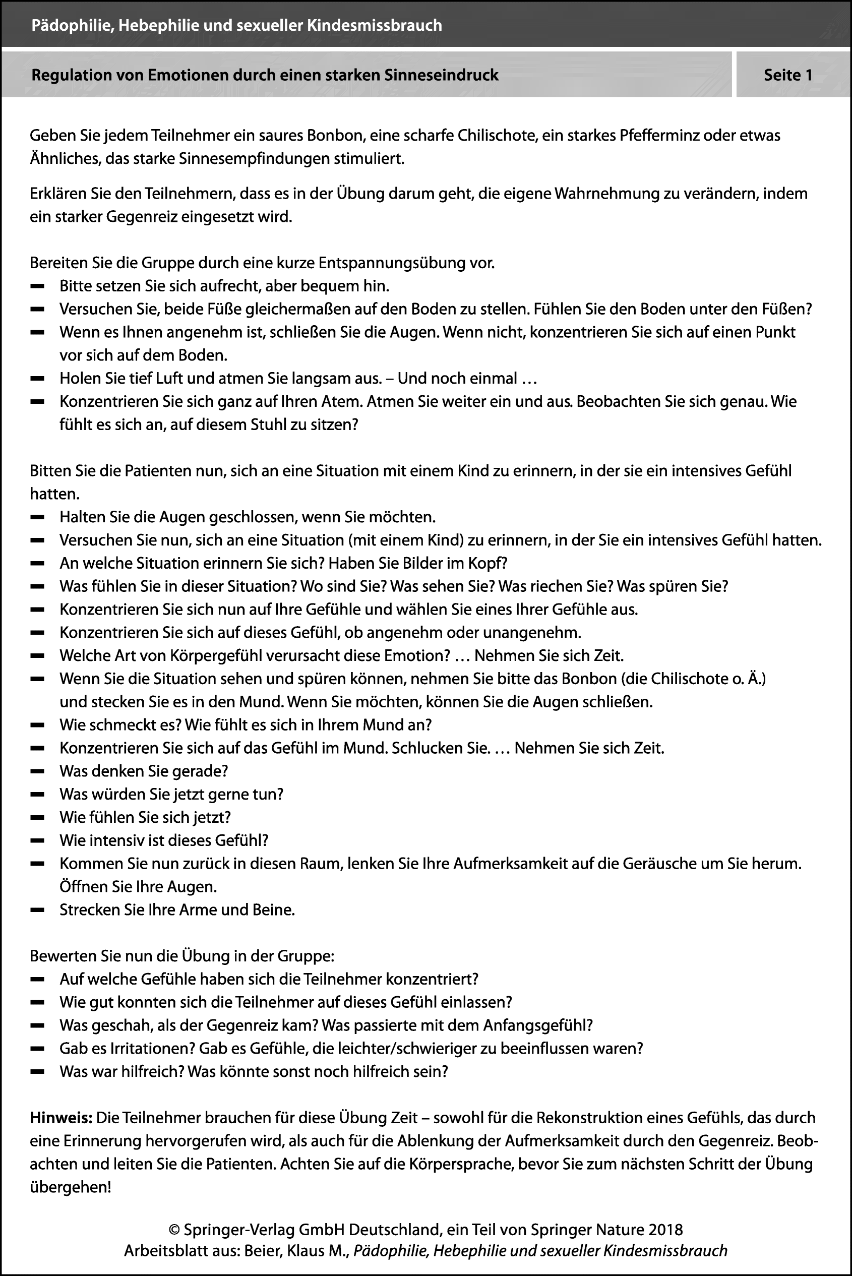 Arbeitsblätter BEDIT | SpringerLink