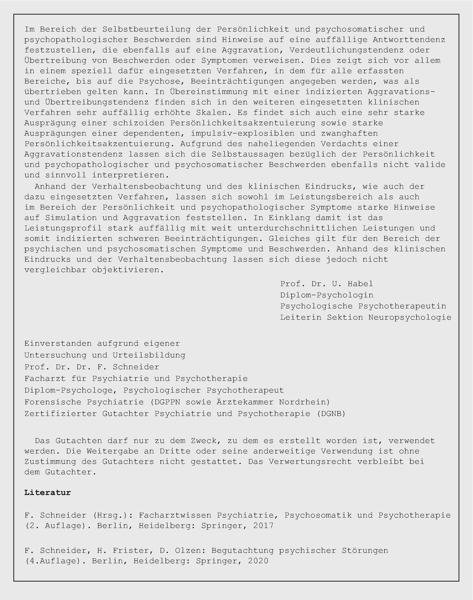 Psychologisches Gutachten 502059 Studocu