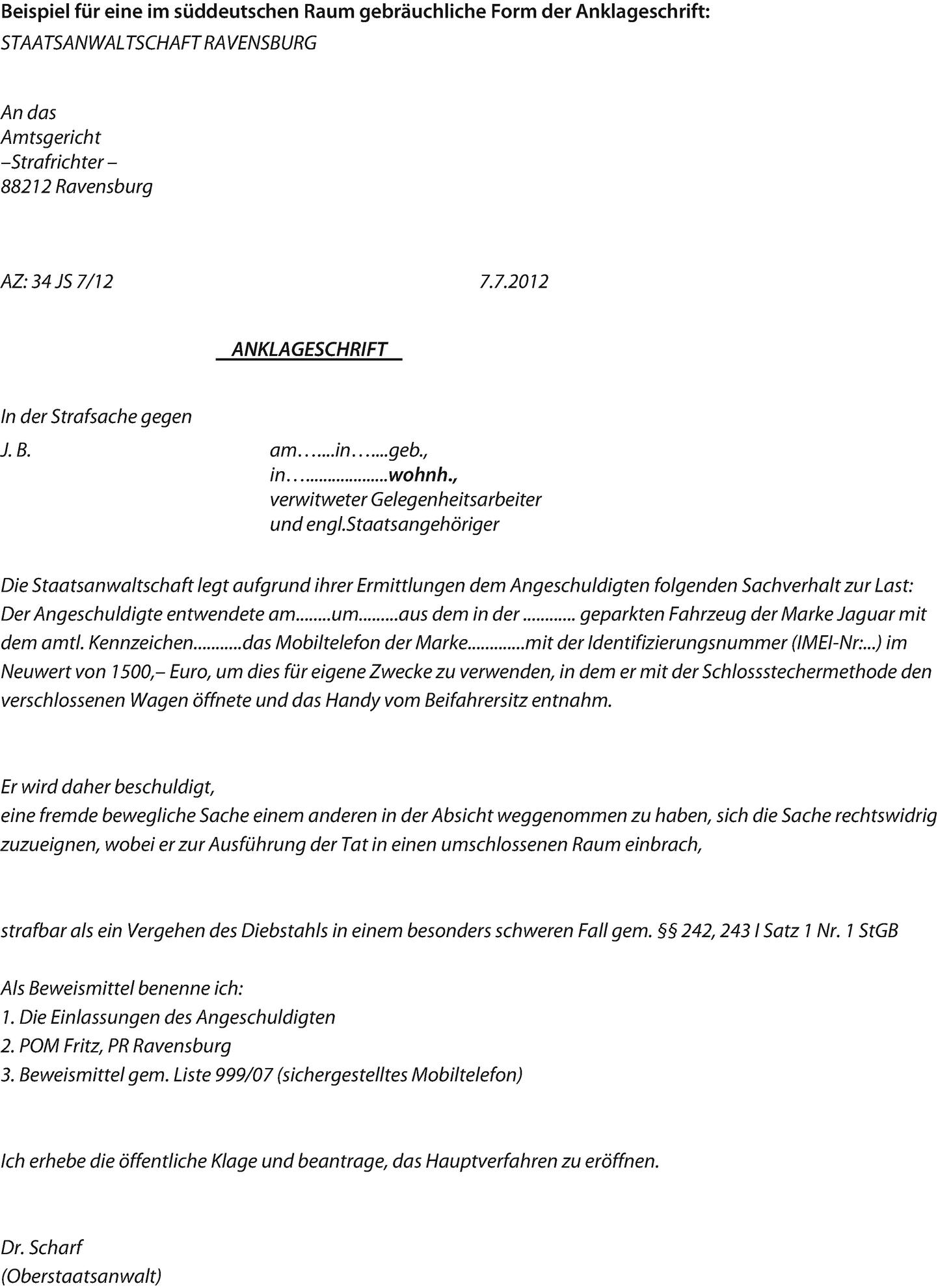 Die Staatsanwaltliche Abschlussentscheidung 12