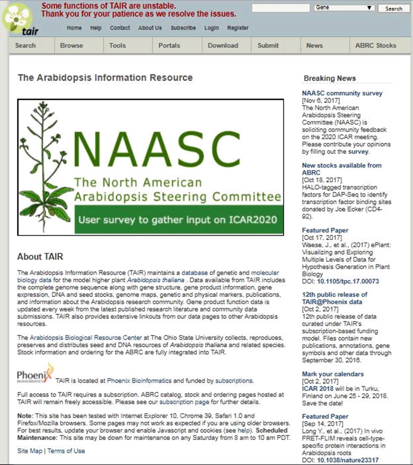 Bioinformatics Resources for the Stress Biology of Plants | SpringerLink