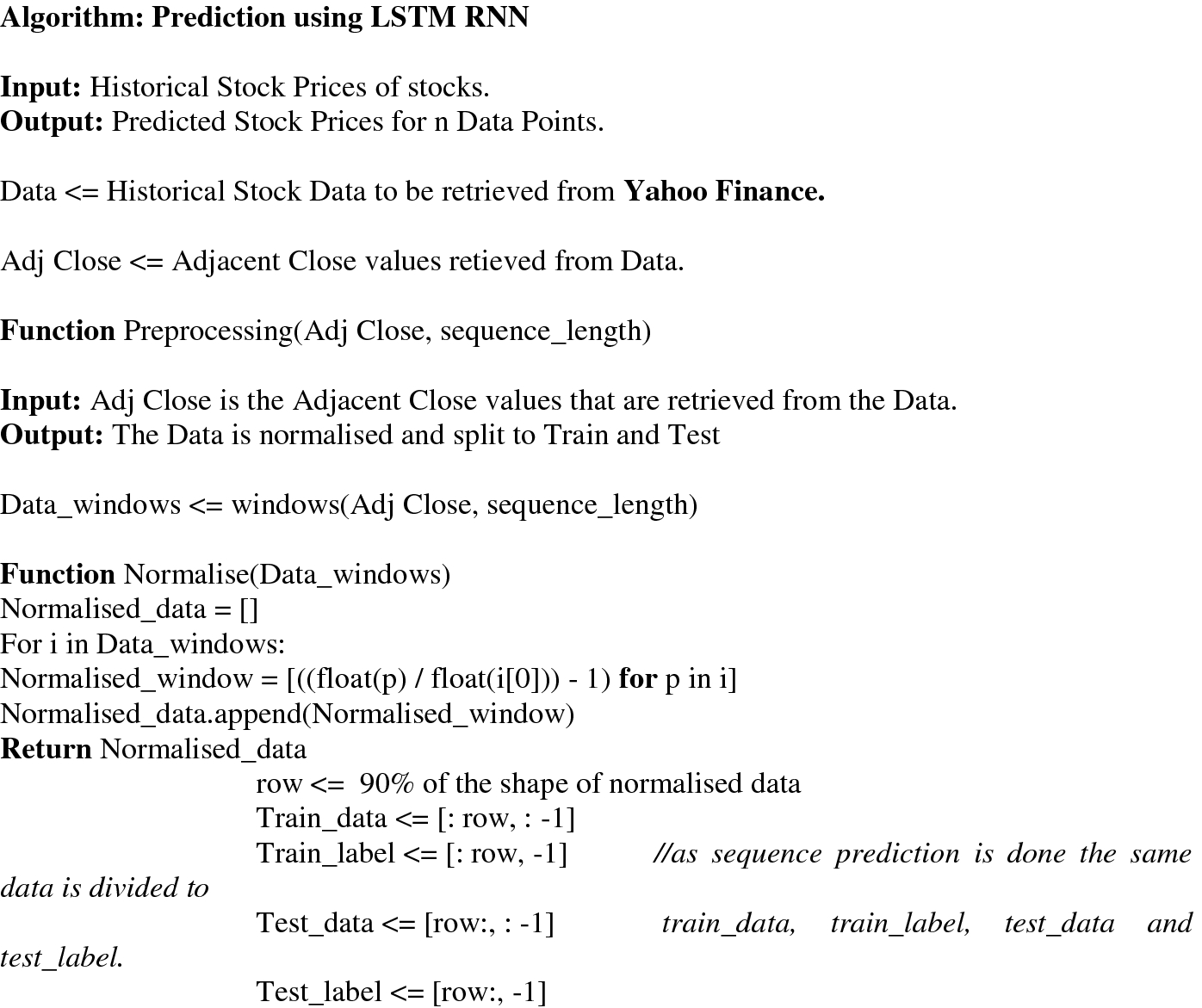 Stock Market Price Prediction Using LSTM RNN | SpringerLink