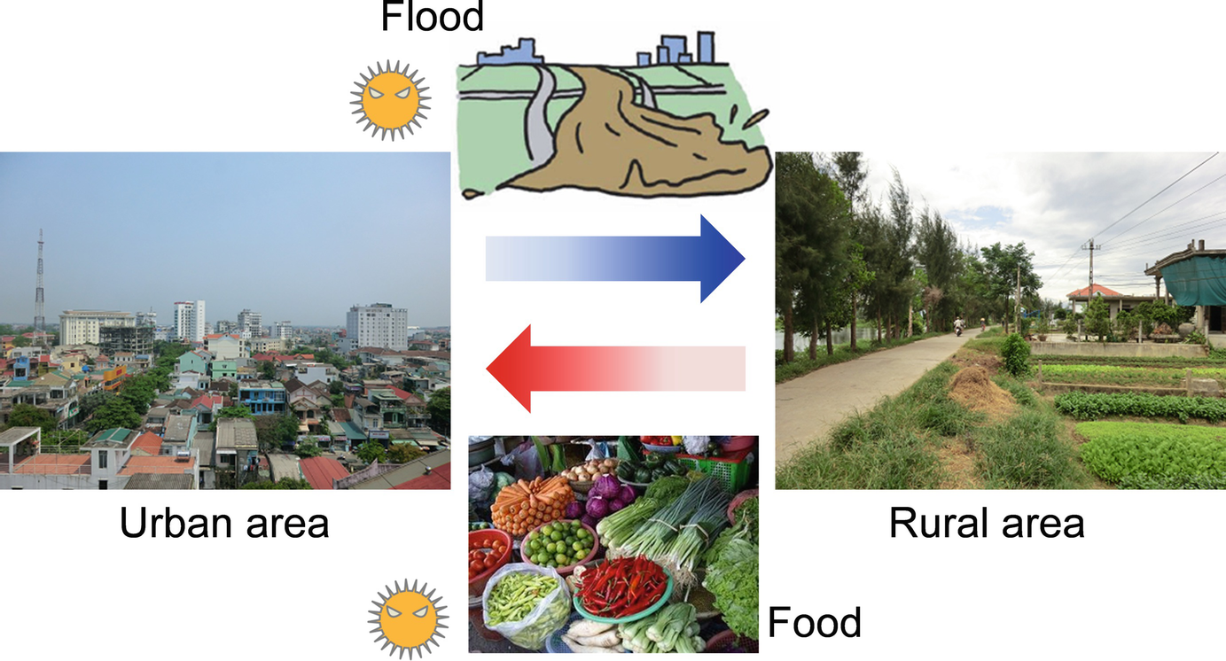 Floods and Foods as Potential Carriers of Disease Between Urban and