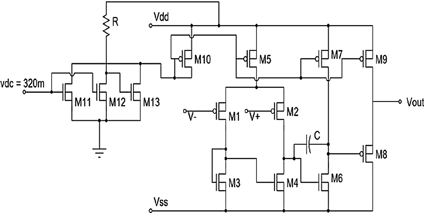 Low Power Process Insensitive Operational Amplifier Design Mosfet Circuits Tutorial Pmos Cascode Opamp Load Fig 3 Schematic Of Proposed Circuit