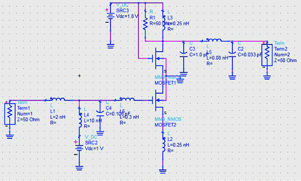Layout Design of X-Band Low Noise Amplifier for Radar
