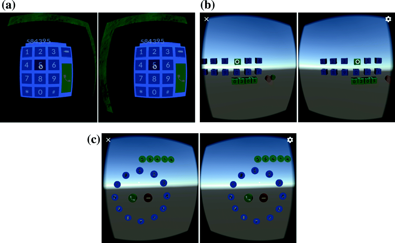 Exploring 3D Interactions for Number Entry and Menu Selection in