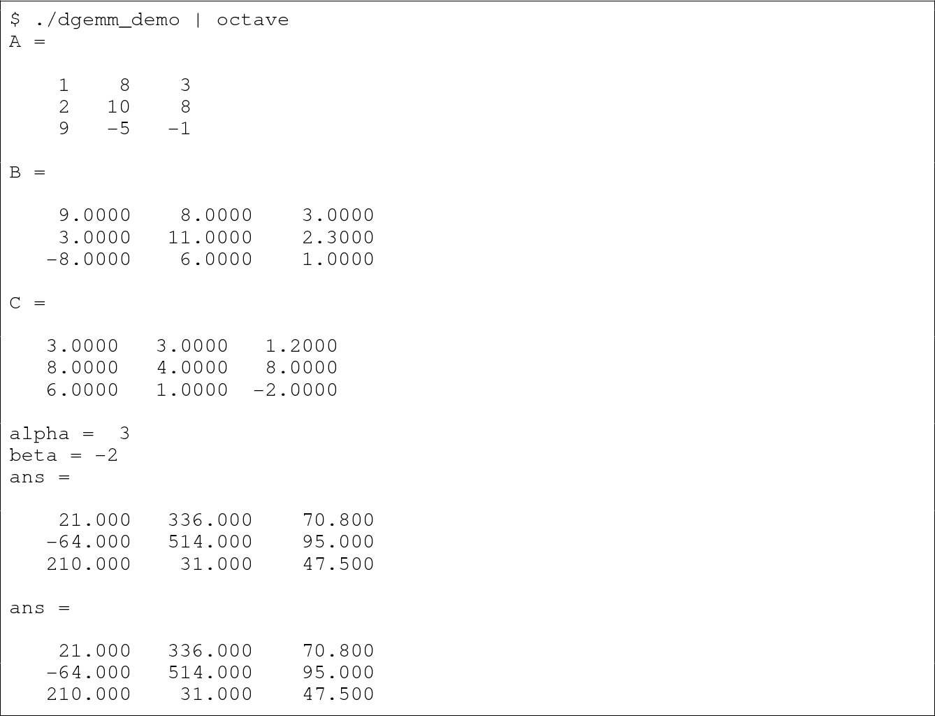 Basics and Practice of Linear Algebra Calculation Library