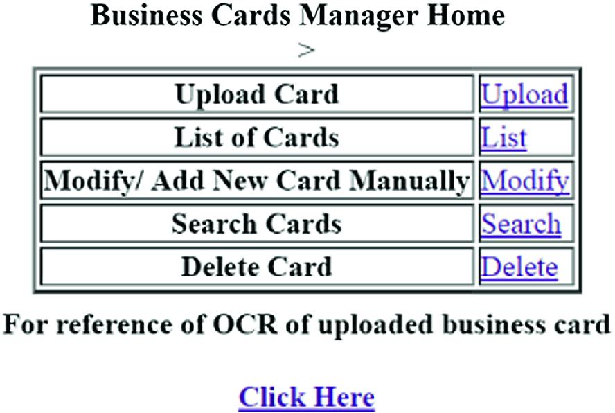 Automation of Business Cards | SpringerLink