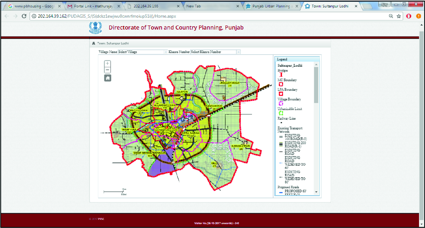 Application of Geospatial Technology in Planning and