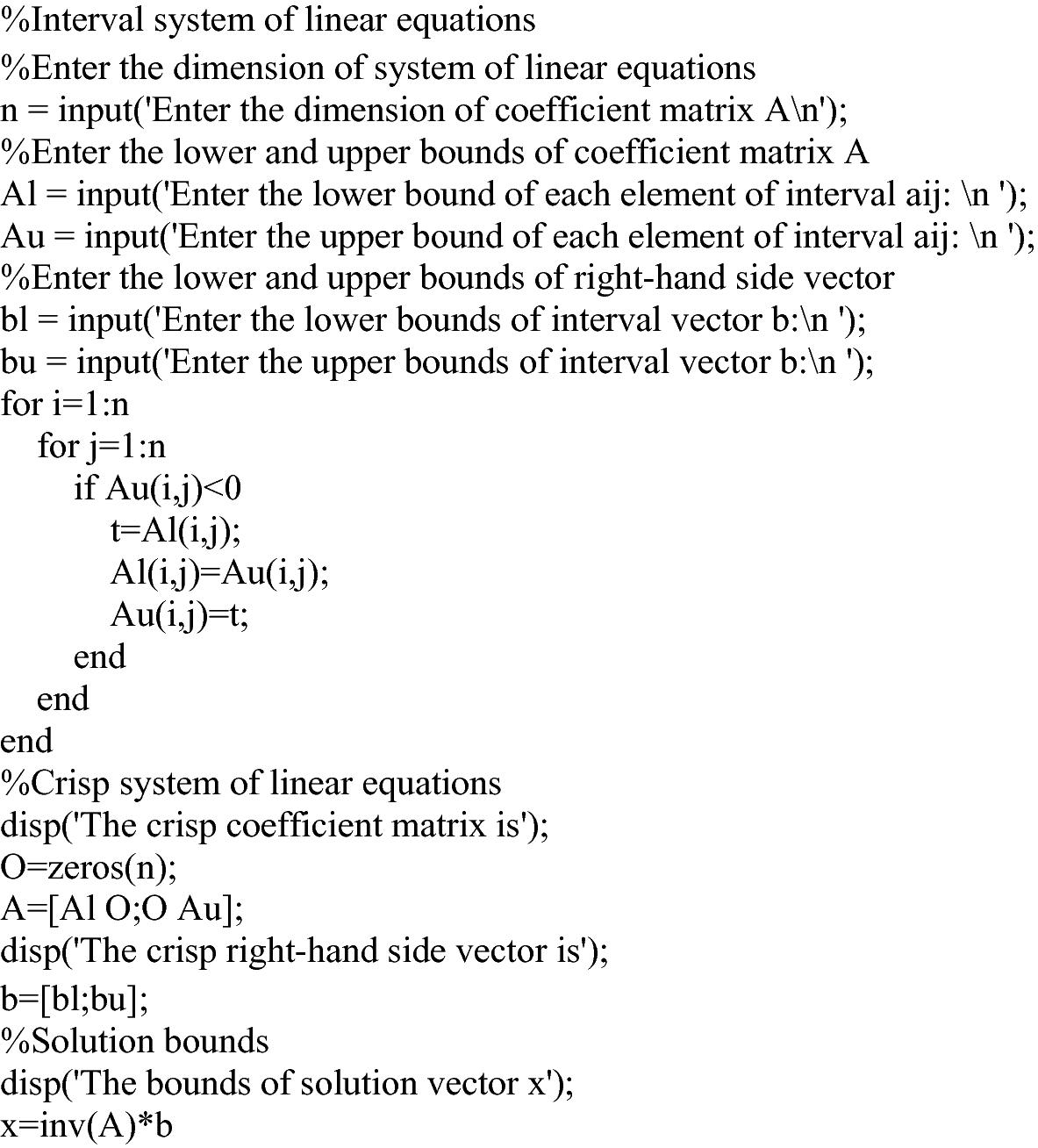 Interval System of Linear Equations | SpringerLink