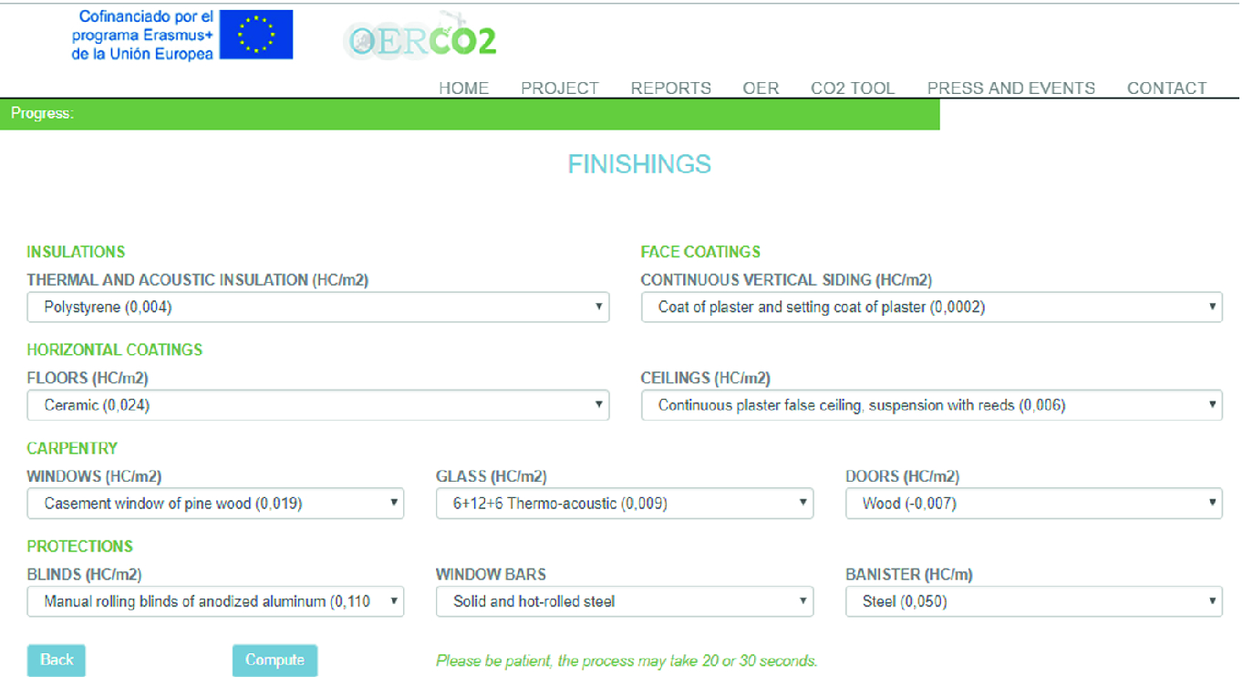 Software for Calculation of Carbon Footprint for Residential