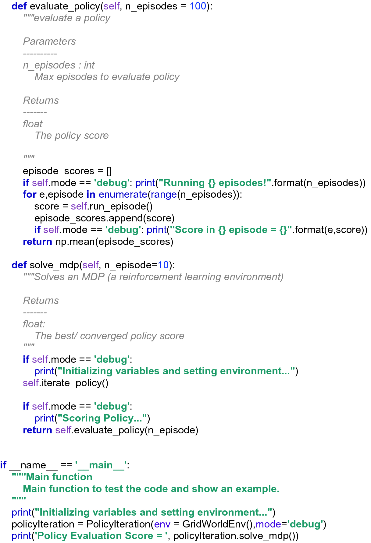 Coding the Environment and MDP Solution   SpringerLink