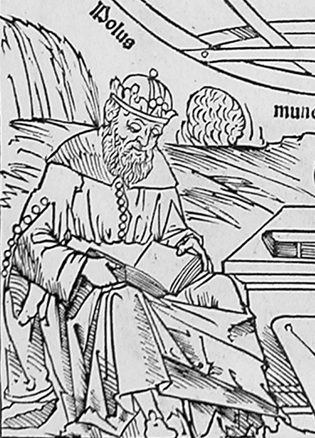 بطليموس الذي عاش في القرن الثاني الميلادي
