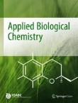 Applied Biological Chemistry Cover Image