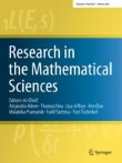 Research in the Mathematical Sciences Cover Image