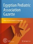 Egyptian Pediatric Association Gazette Cover Image