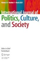 International Journal of Politics, Culture, and Society, Volume 34, Issue 1