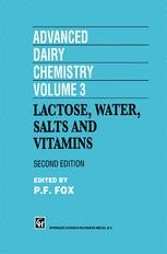 Advanced Dairy Chemistry Volume 3 Lactose Water Salts And Vitamins P F Fox Springer