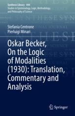 On the Logic of Modalities (1930): Translation, Commentary and Analysis Book Cover