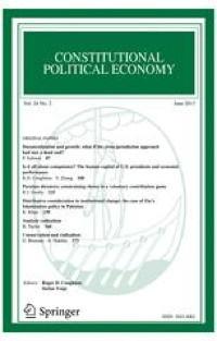Constitutional Political Economy, Volume 32