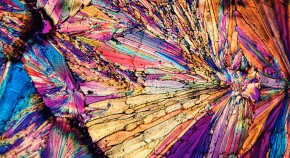 image of sugar crystal through a microscope