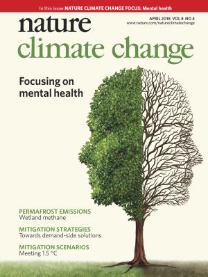 Nature Climate Changeの表紙