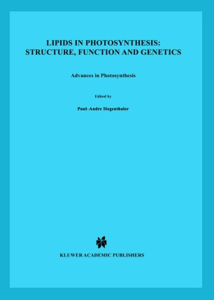 Lipids in Photosynthesis: Structure, Function and Genetics