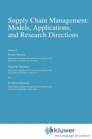 Supply Chain Management: Models, Applications, and Research Directions
