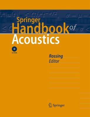 springer handbook of acoustics springerlink