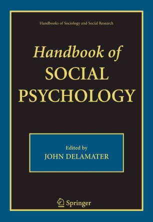 Handbook Of Social Psychology Springerlink