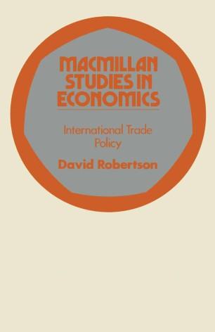 International Trade Policy | SpringerLink