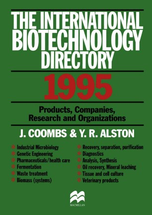 The International Biotechnology Directory 1995