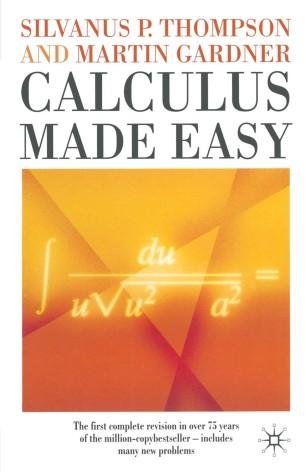 Calculus Made Easy | SpringerLink
