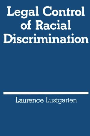 Legal Control of Racial Discrimination