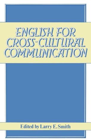 English for Cross-Cultural Communication   SpringerLink